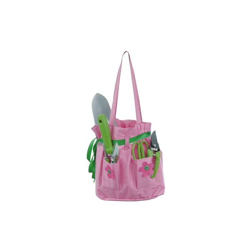Růžová taška zahradního nářadí