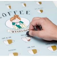 Kavový stírací plakát ScratchAway