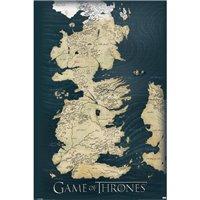 Mapa Game of Thrones - Hra o trůny