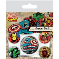 Placky Marvel Comics Captain America - 5 ks
