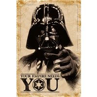Plakát Star Wars - Darth Vader: Your Empire Needs You