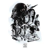 Plakát Star Wars - 40th Anniversary (Montage)