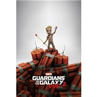 Plakát Guardians of the Galaxy 2 - Groot Dynamite