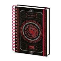 Zápisník Game of Thrones - Targaryen Dragon Daenerys