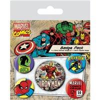 Sada placek Marvel Comics - Iron Man, 5 ks