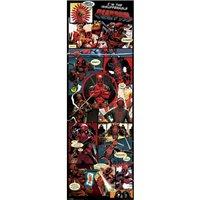 Plakát na dveře Deadpool - Panels
