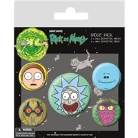 Sada placek Rick and Morty - Hlavy, 5 ks