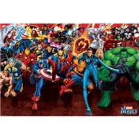 Plakát Marvel Heroes - Attack
