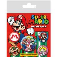 Sada placek Super Mario - Mario, 5 ks